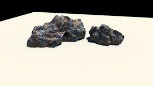 stone rock 3d ma