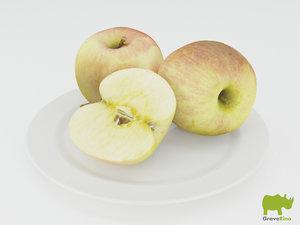 3d model apples resolution