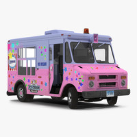 Ice Cream Van Rigged 2 3D Model