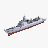 type052c luyangii destroyer dwg