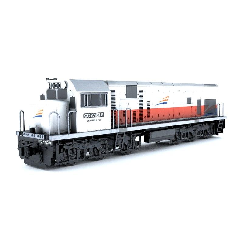 locomotive cc201 obj