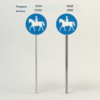 bridleway sign 3d model