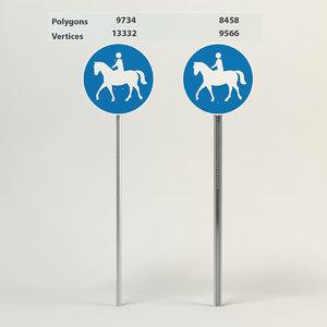 bridleway sign 3d model