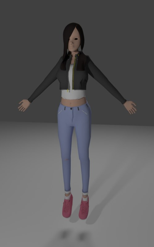 3d x character simple