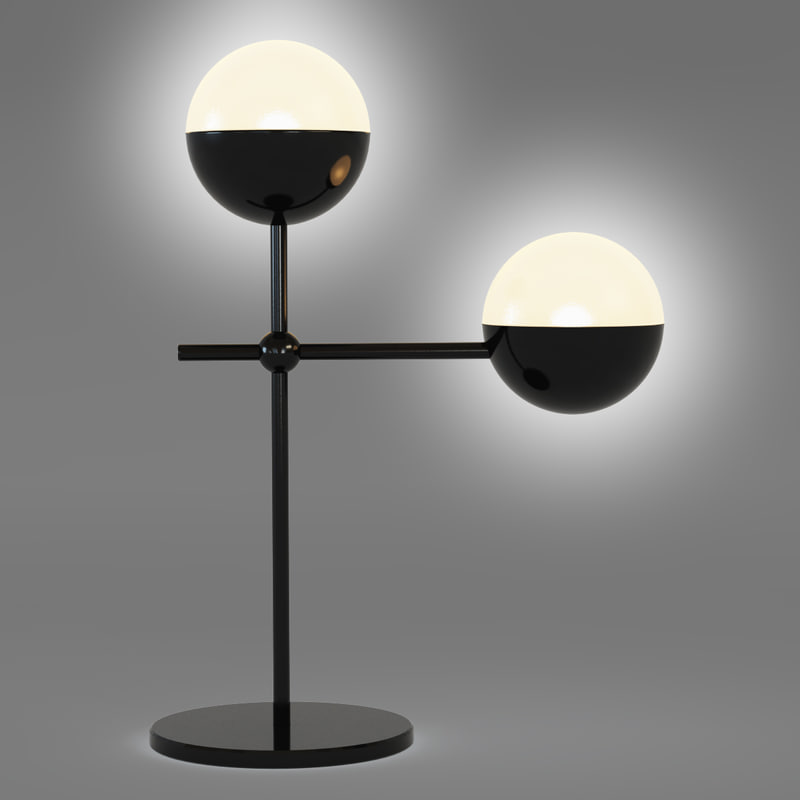 lamp table 3d 3ds