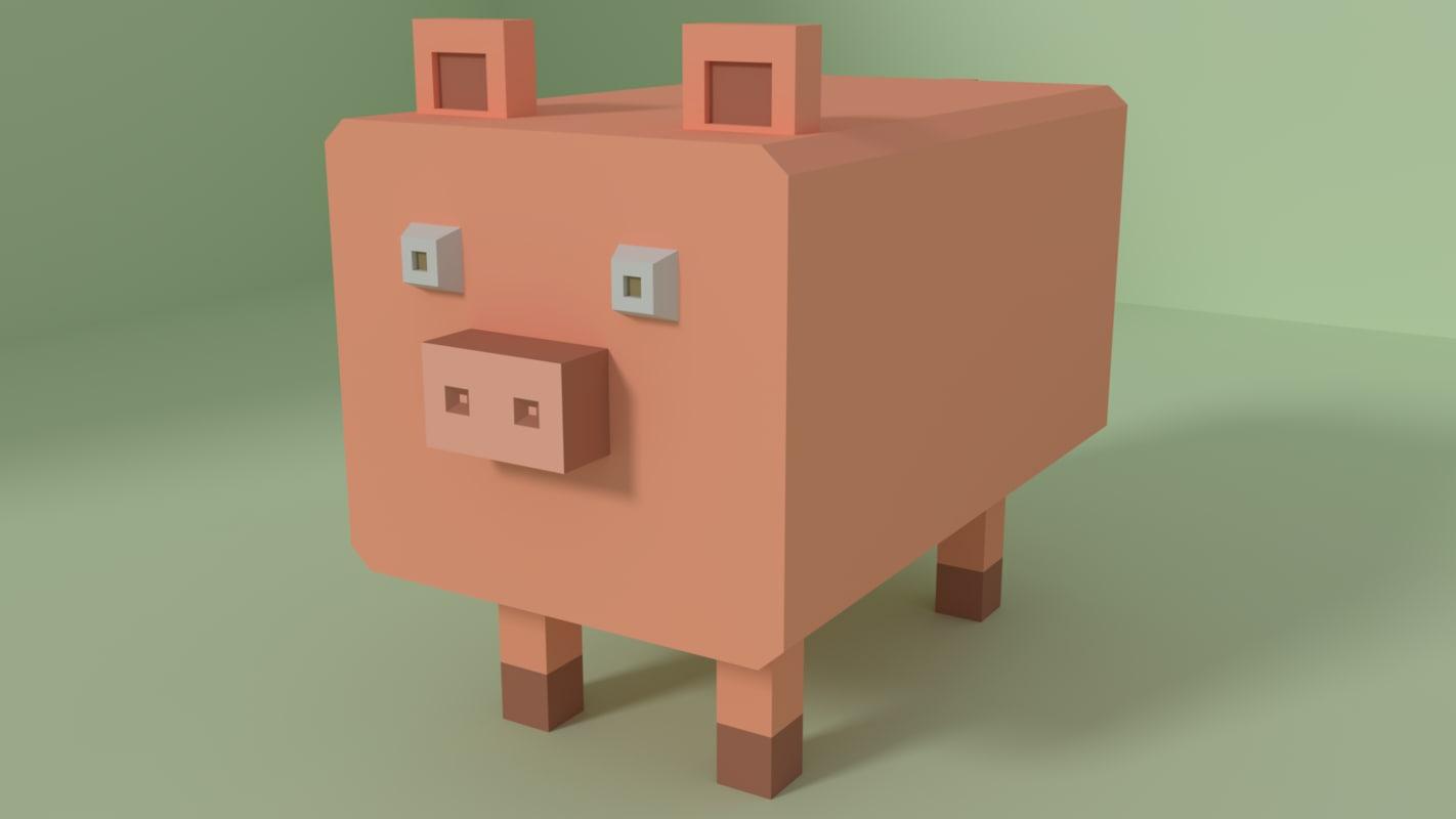 free pig 3d model