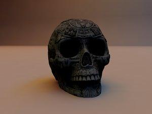 skull aztec 3d model