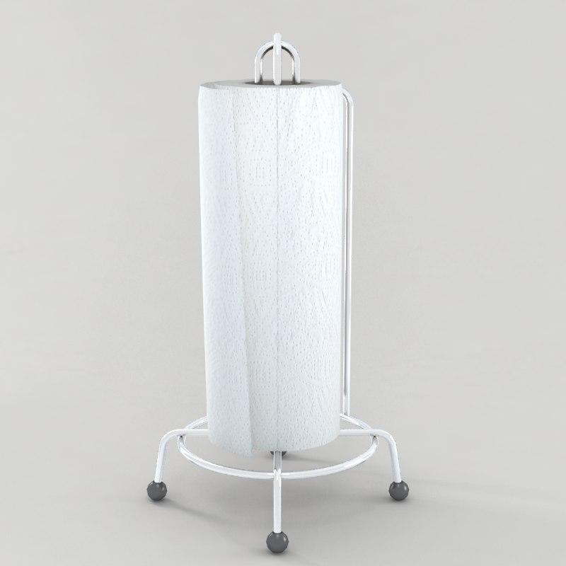 3d paper towel model