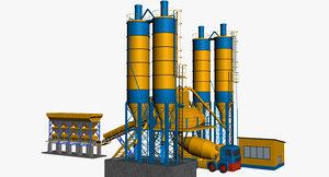 3d concrete mixer plant model