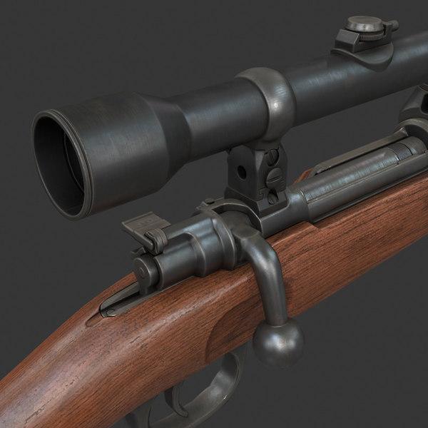 3d k98 karabiner model