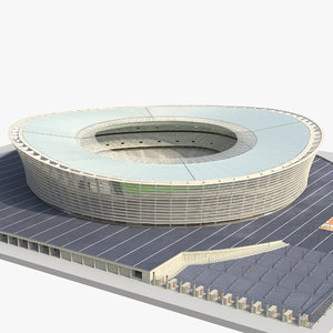 3d cape town stadium green model