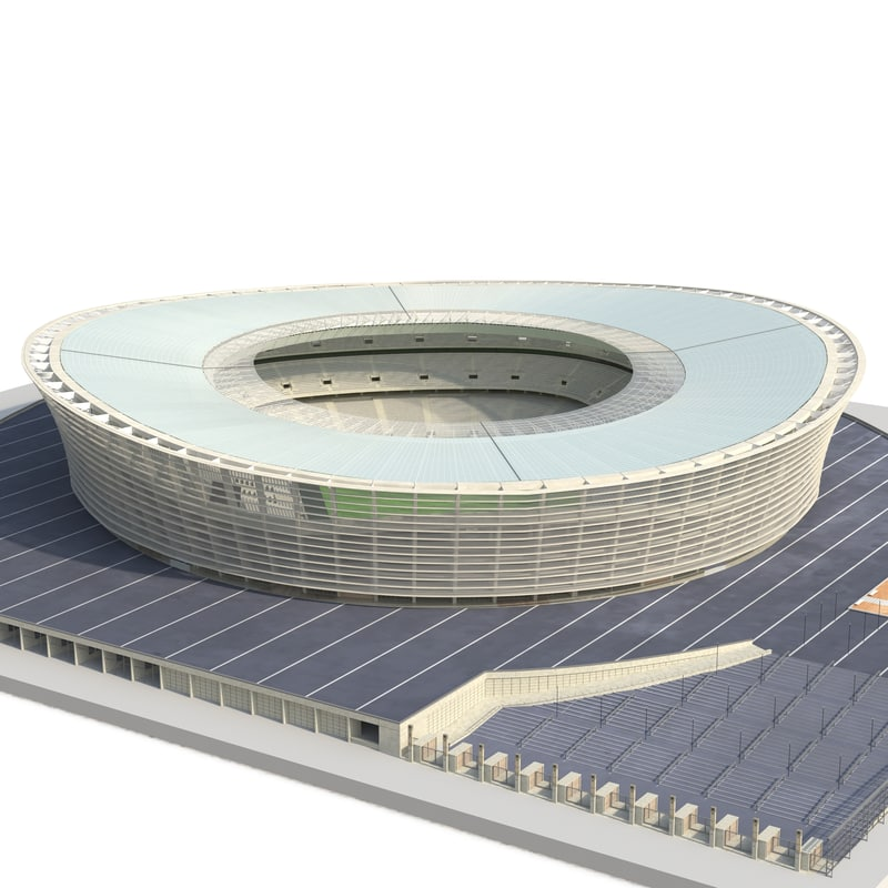 3d cape town stadium green model