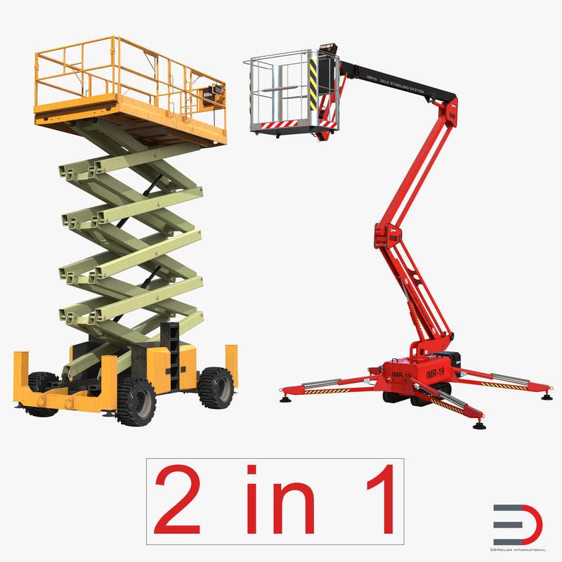 3d 3ds scissor lifts