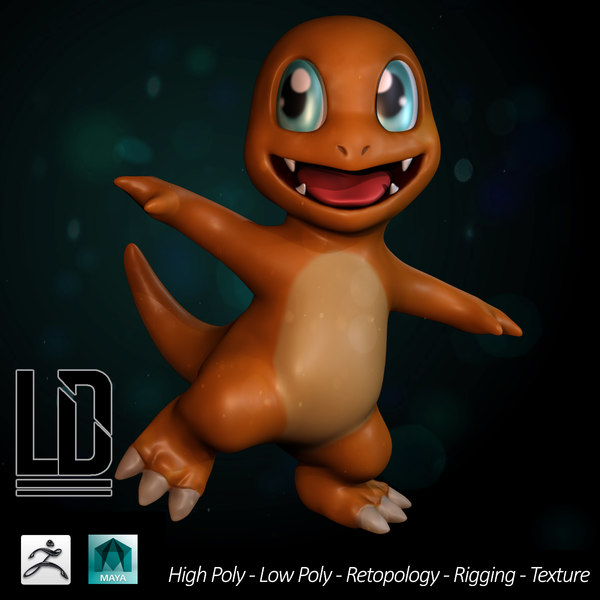 3d model pokemon - charmander