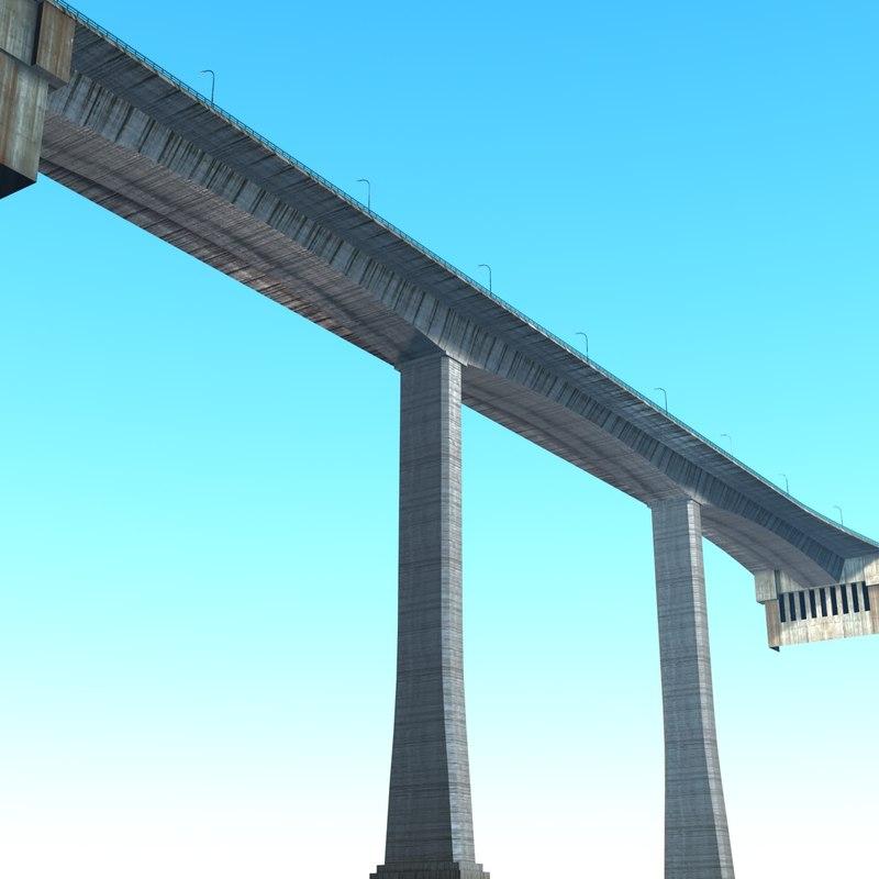 ponte joao gomes bridge 3d max