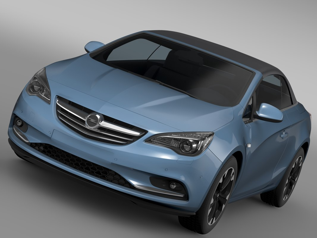 3d opel cascada turbo 2016 model