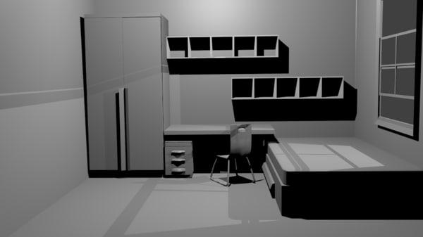 3d dorm room