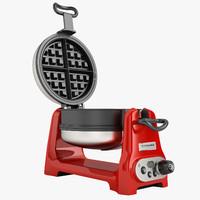artisan waffle iron 3d model
