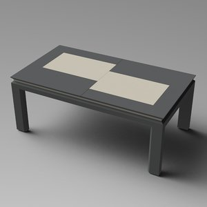 extendable table furniture obj