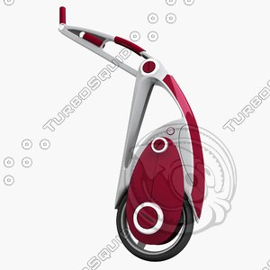 design unicycle vehicle 3d model