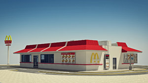 3d model mcdonald s furniture