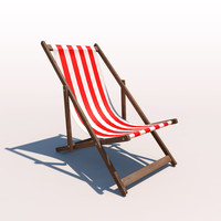 Deck Chair - Red