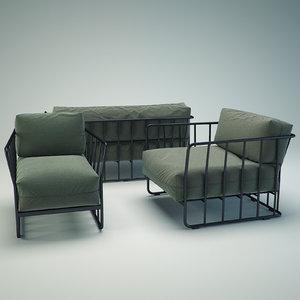 3d code 27 sofa set