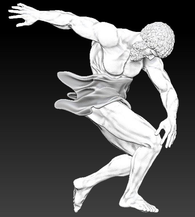 discobolus roman 3d model