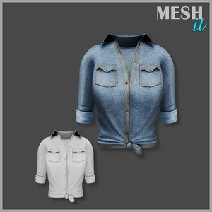 denim shirt 3d 3ds