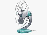 3d model fan retro