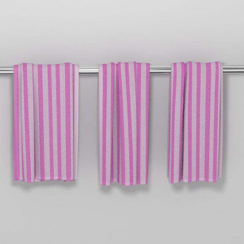 3d model towel hanging