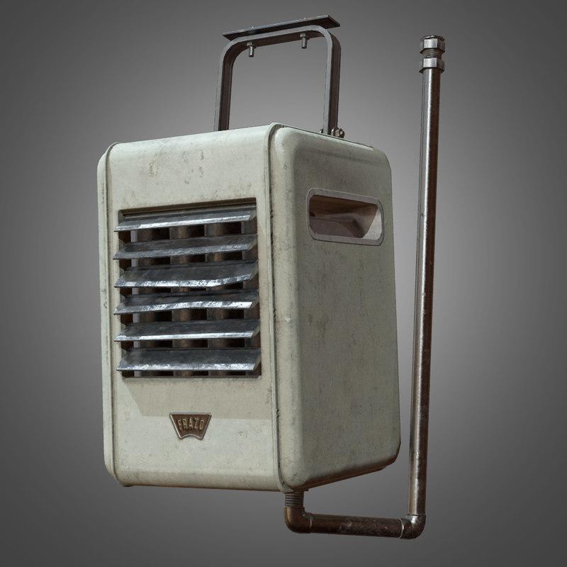 3d model indoor ceiling heater -