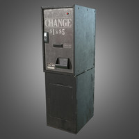 3d model standing change machine -