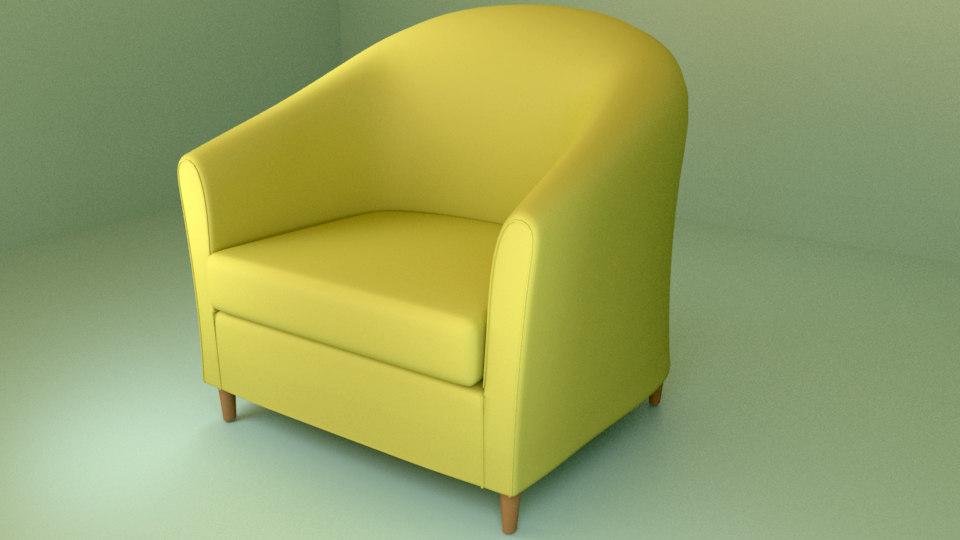 3d ikea tullsta armchair