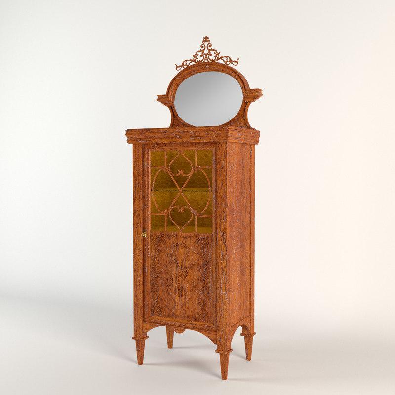 3d antique musical cabinet model