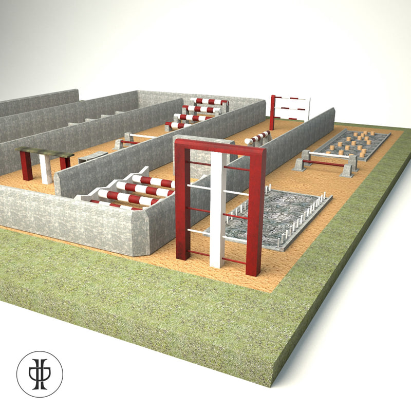 military pentathlon area army 3d model