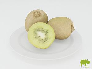 kiwi resolution 3d model