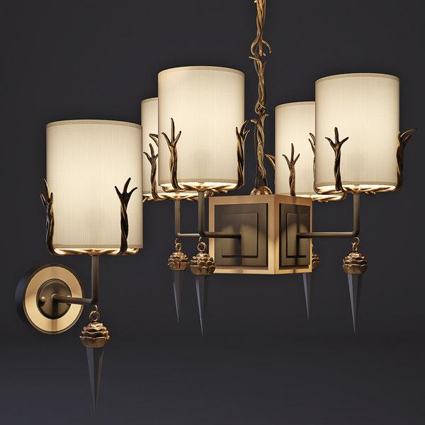3d chandelier sconces