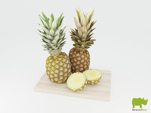 3d pineapples