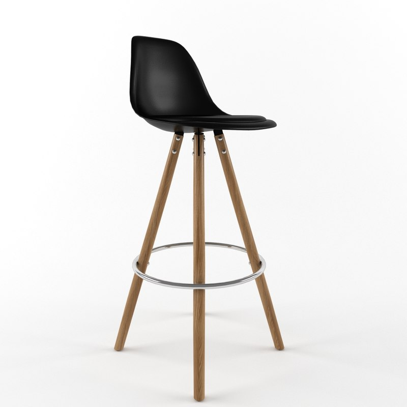3d stool interior chair