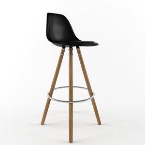 3d stool interior chair