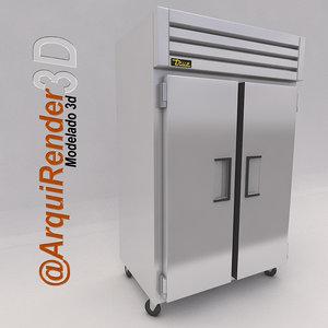 3d refrigerator true utility model