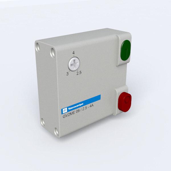 circuit breaker 3d model