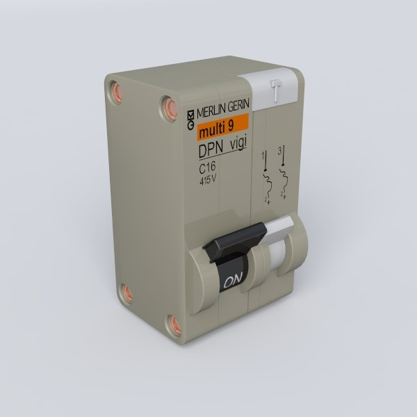 3d model circuit breaker