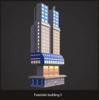 Futuristic sci-fi building 3