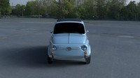3d 1957 fiat 500 nuova