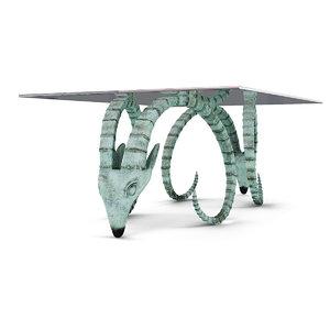 max rams head coffee table