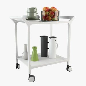 3d model teatime trolley tea