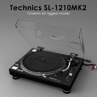 3d model turntable technics