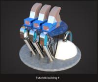 Futuristic sci-fi building 4